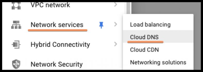 Access Cloud DNS